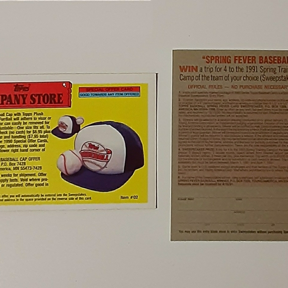 Vintage Topps Company Store Collector's Cards (Lot